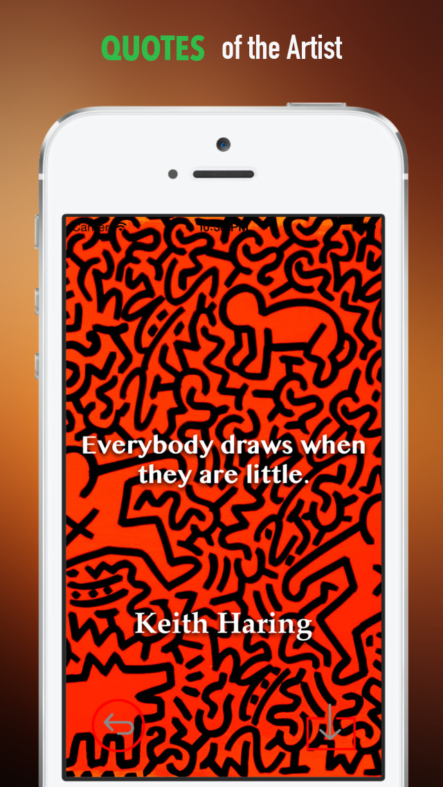 Keith Haring Paintings HD Wallpaper and His Inspirational Quotes Backgrounds Creator screenshot 4
