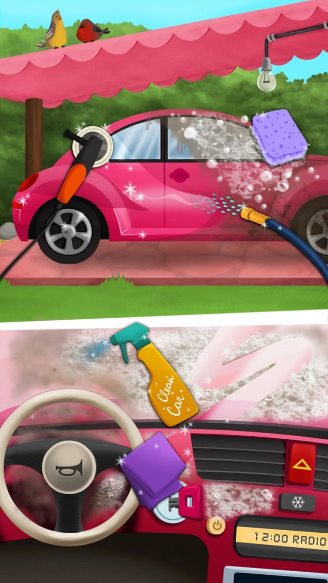 Sweet Baby Girl Clean Up 2 - My House, Garden and Garage (No Ads) screenshot 2