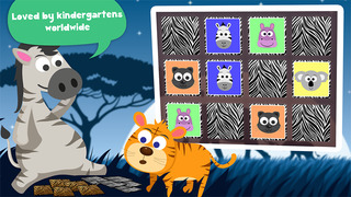 Play with Wild Animals - The 1st Cartoon Memo Game for a toddler and a whippersnapper free screenshot 3