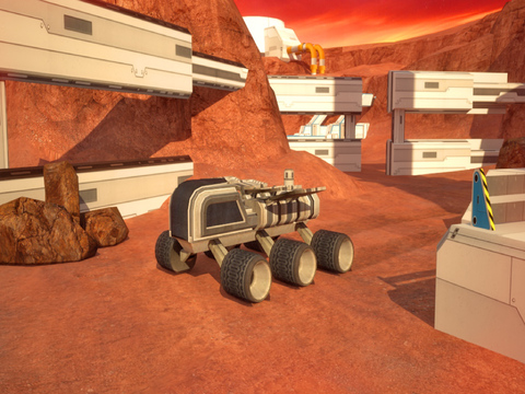 3D Mars Parking PRO - Rover Space Driving Astronaut Simulator Version screenshot 6