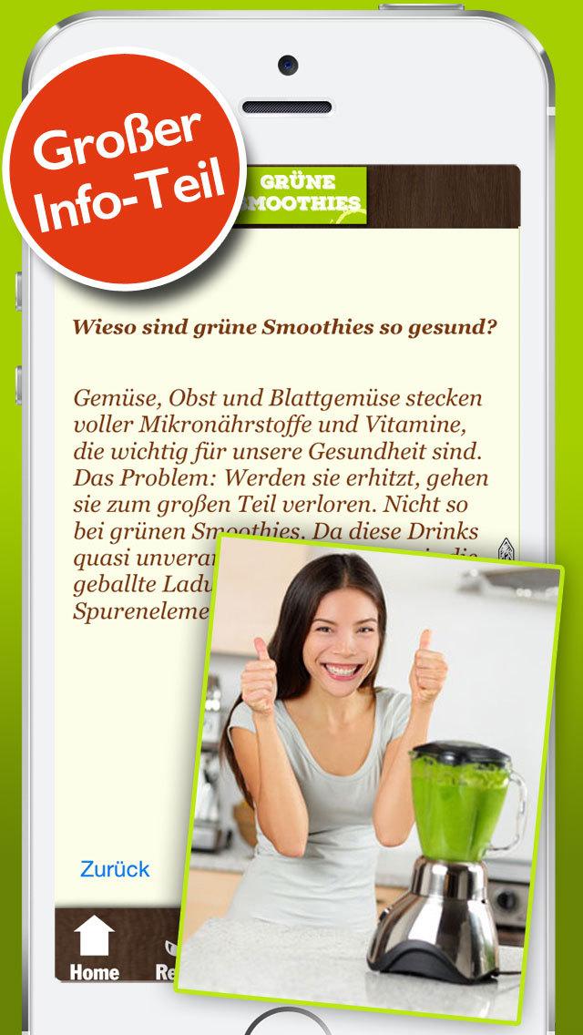 Grüne Smoothies Rezepte - Lecker und gesund screenshot 3