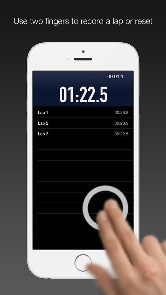 Tap Lap - Simple Gesture Running Timer screenshot 2