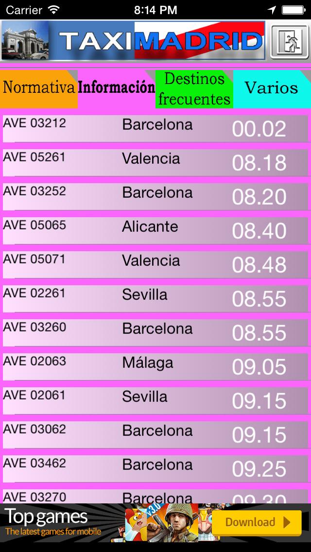 TaxiMadrid - ayuda al profesional del taxi de Madrid screenshot 1