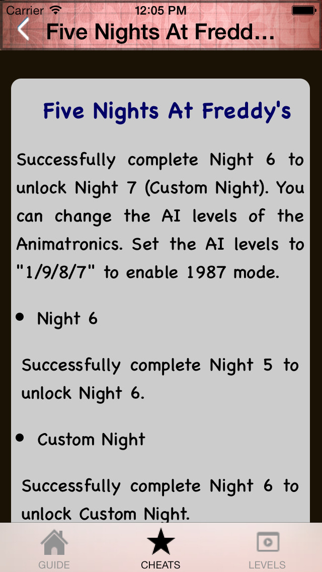 Guide for Five Nights at Freddy's 4 (FNAF) Edtions | Apps | 148Apps