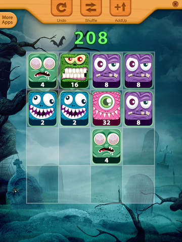 2048 Angry Monsters Puzzle screenshot 5