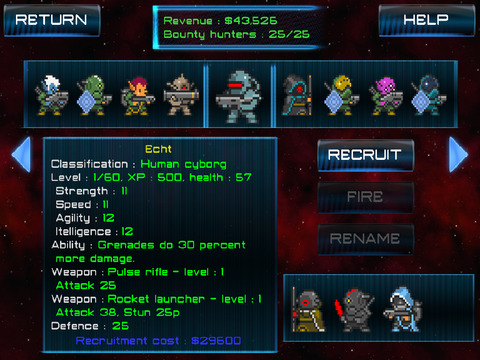 Space Bounties Inc. (strategy turn-based RPG) screenshot 8