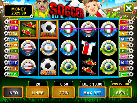 Soccer Slot Machine - Free Spin Games screenshot 2