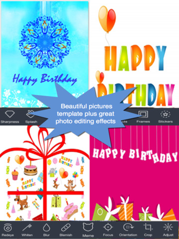The Ultimate Happy Birthday Cards (Pro Version). Custom and Send Birthday Greetings eCard with emoji, text,voice messages and photo editor screenshot 8