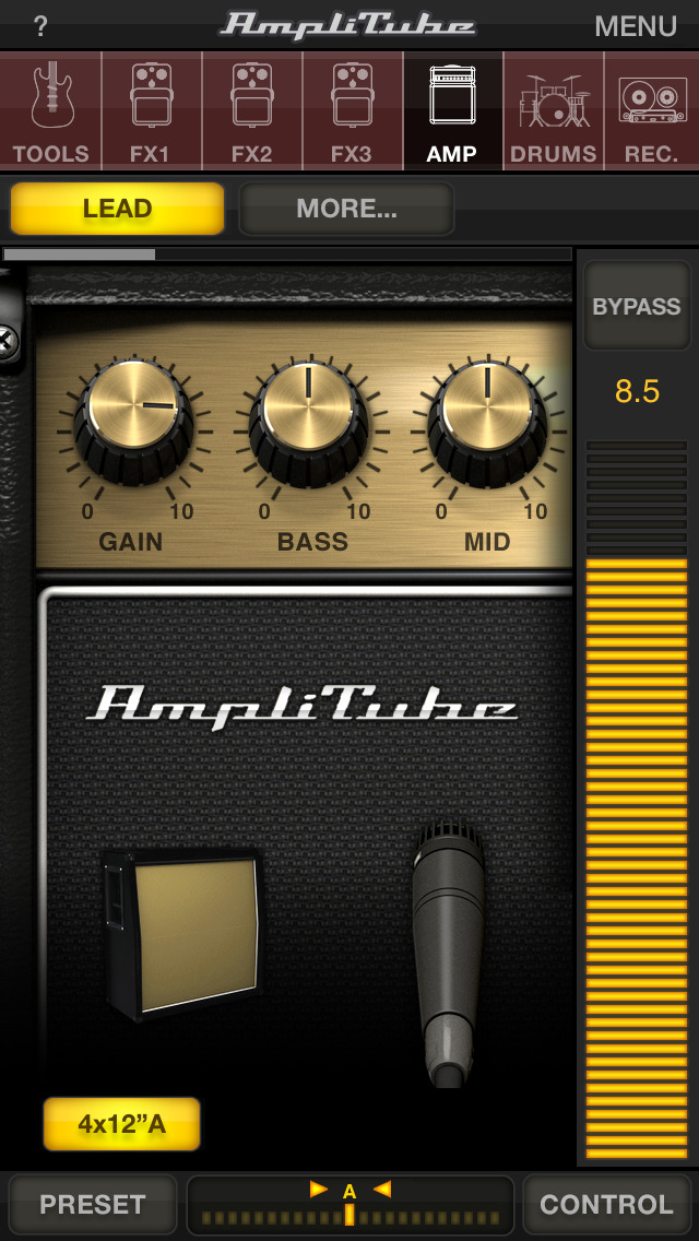 AmpliTube CS screenshot 1