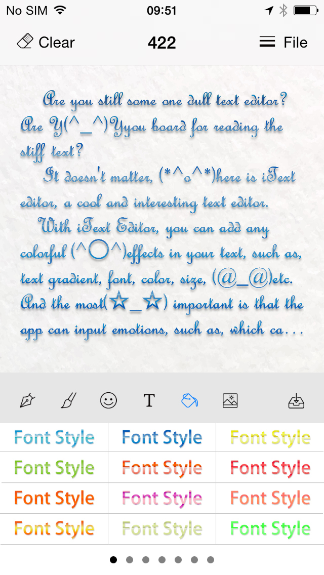 iText Editor HD for text effect, font effect screenshot 3