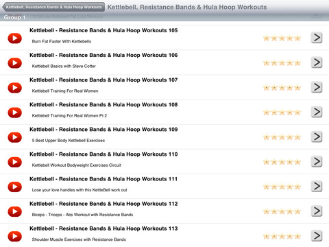 Kettlebell, Resistance Bands & Hula Hoop Workouts screenshot 7