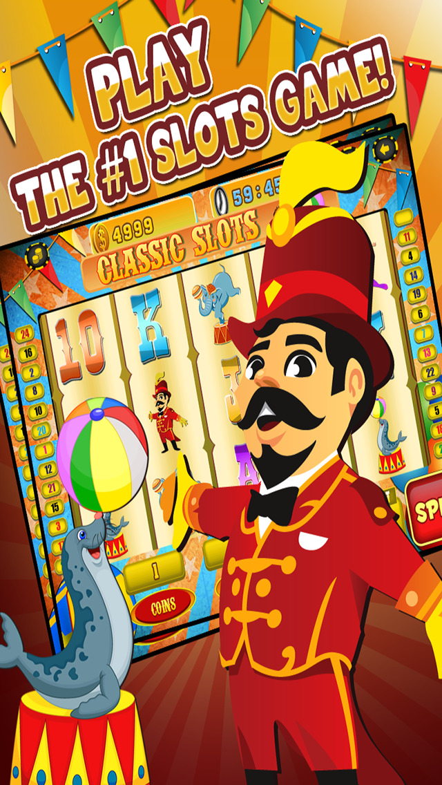 Ace Circus Vegas Slots - Lucky Big Win Classic Jackpot Slot Machine Casino Games Free screenshot 1