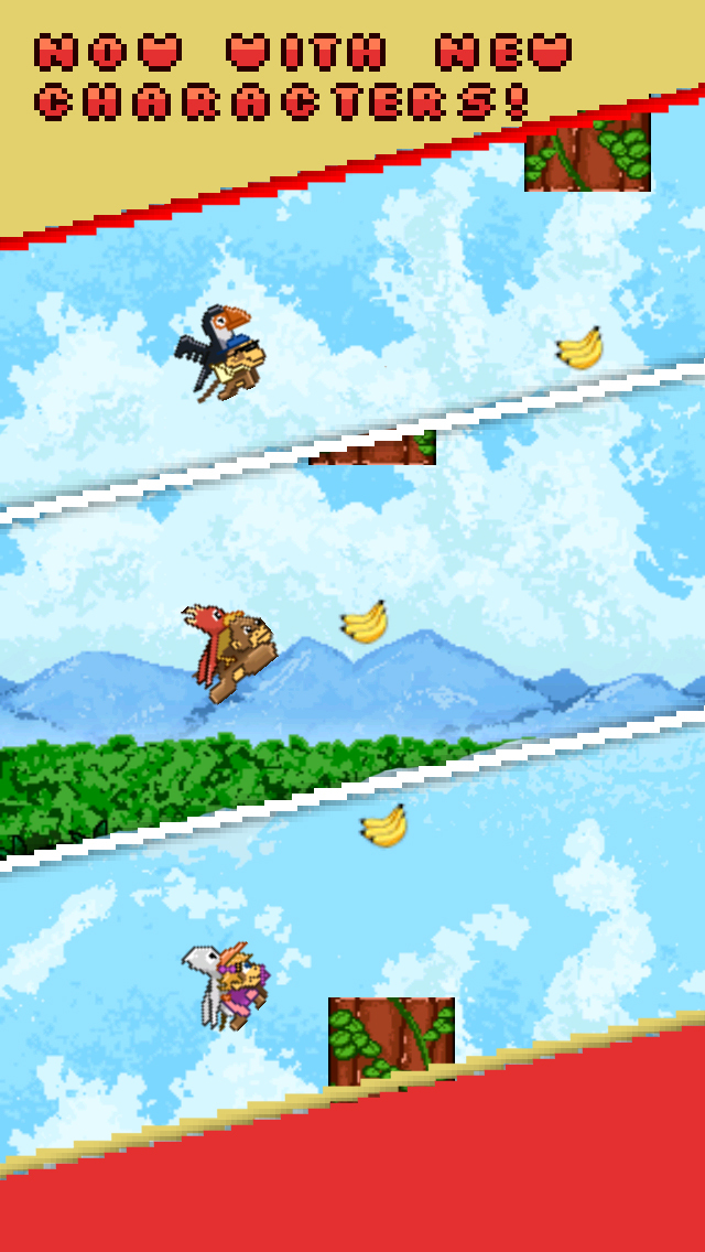 ` Action of Flying Monkey and Baby Bird  FREE screenshot 2