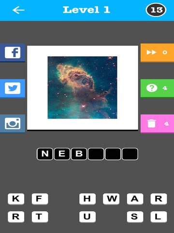 Outer Space Quiz - Word Trivia Game screenshot 7