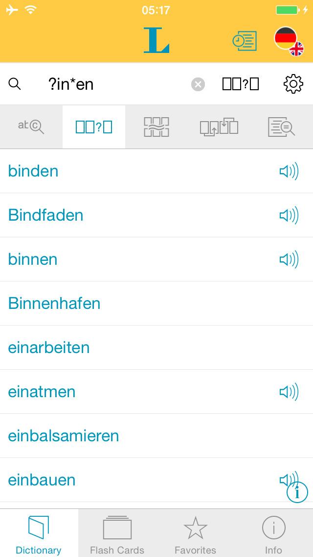 Big German English Dictionary screenshot 4