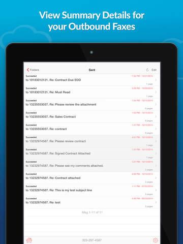 eFax – send fax from iPhone screenshot 8