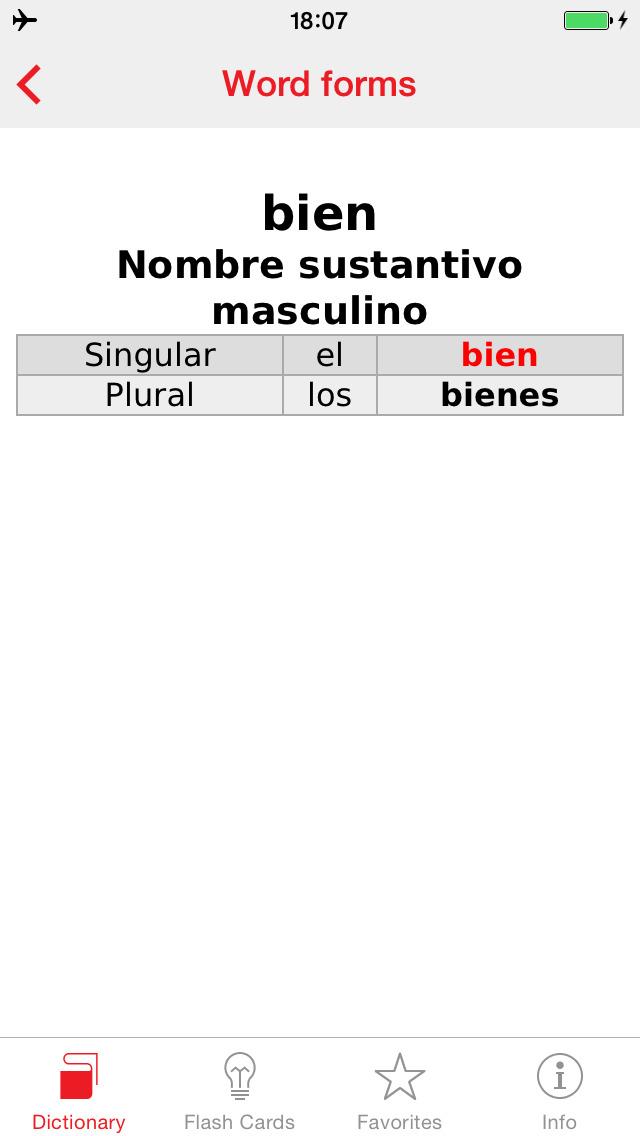 Italian - Spanish Berlitz Basic Talking Dictionary screenshot 5