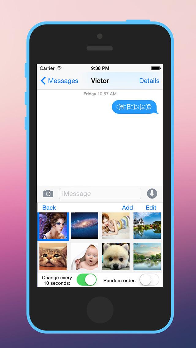 Photo Keyboard for iOS 8 screenshot 3