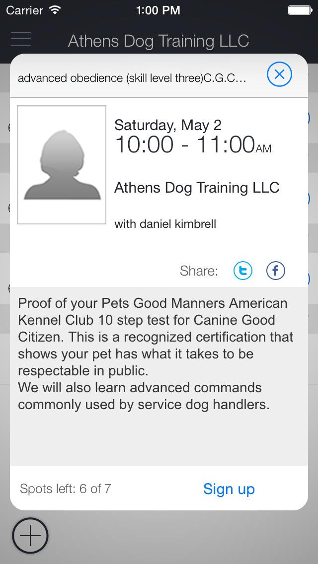 Athens Dog Training LLC App screenshot 2