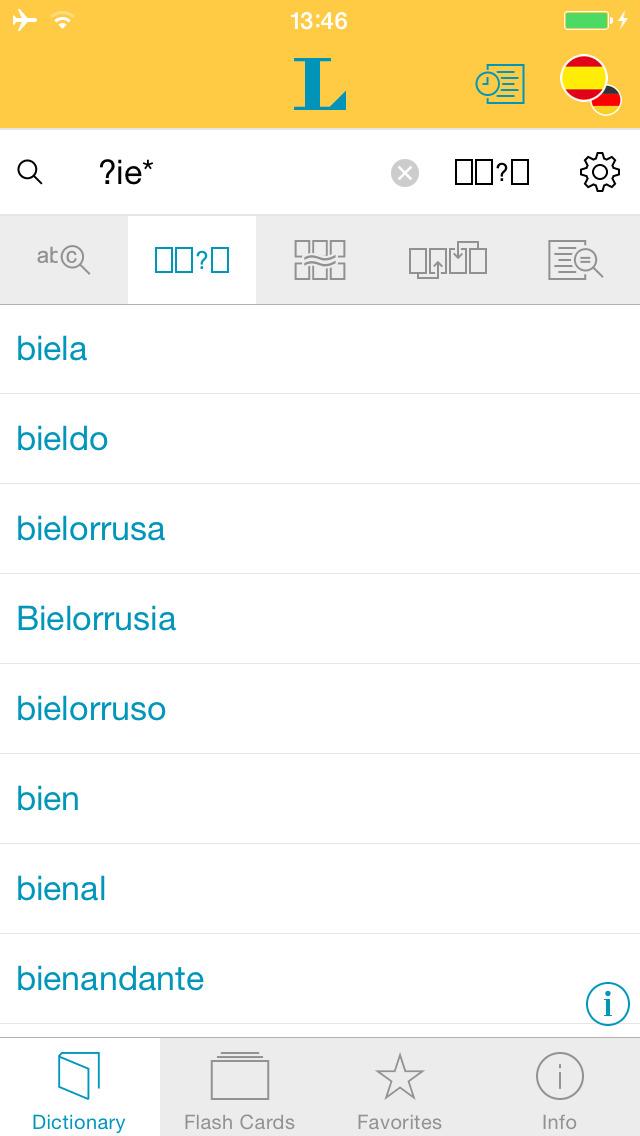 Big German Spanish Dictionary screenshot 4