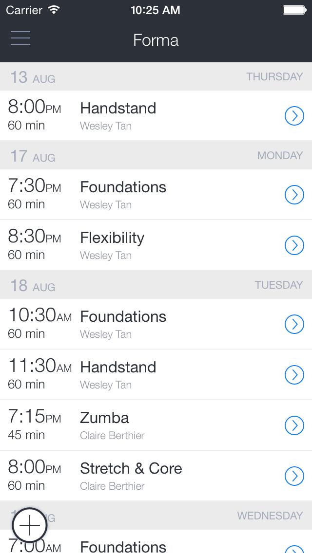 FORMA - Schedule, book, buy screenshot 1
