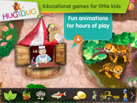 Zoo Explorer -  HugDug animals activity game for little kids. screenshot 4