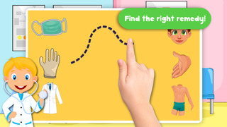 Free Kids Puzzle Teach me Hospital - Learn how to be a doctor or a nurse screenshot 2