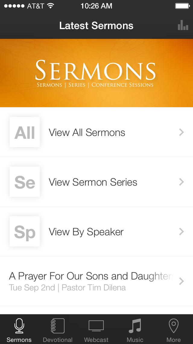 The Brooklyn Tabernacle App screenshot 1