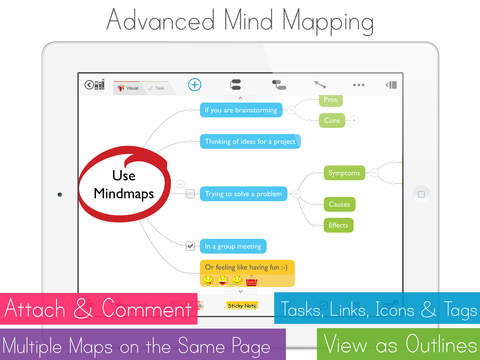 MagicalPad: Notes, Mind Maps, Outlines and Tasks - All in one screenshot 2