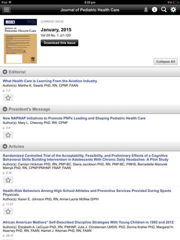 Journal of Ped Health Care screenshot 9