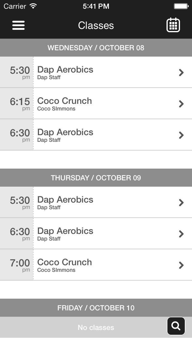 DAP Fitness screenshot #1