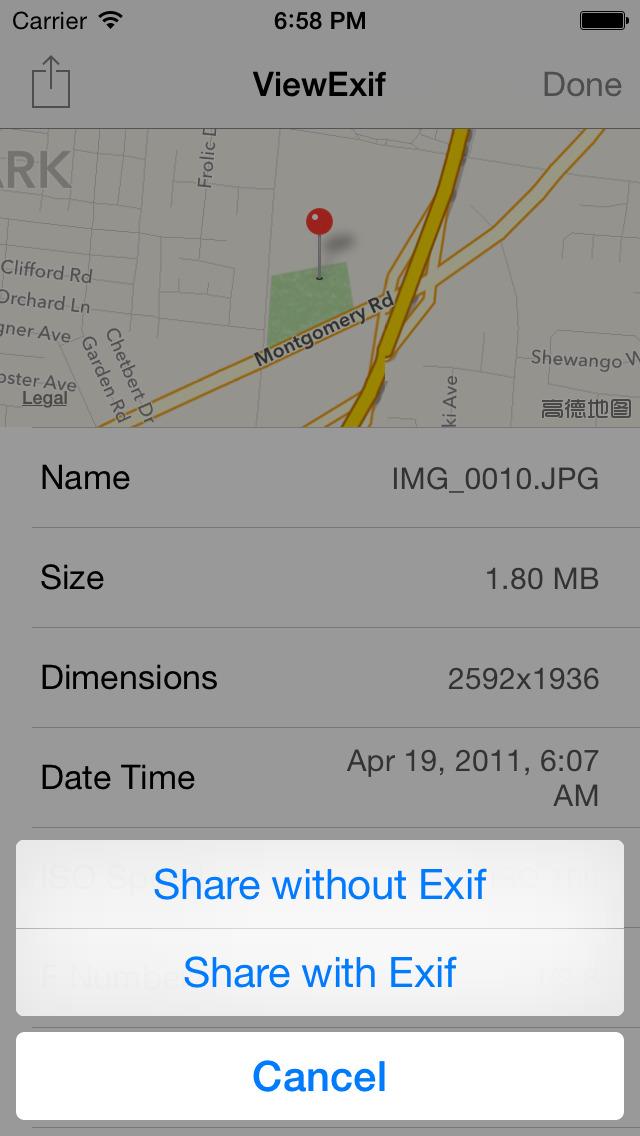 ViewExif screenshot 4