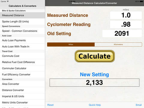 what is data on iphone 免費生產應用app bicycle spoke calculator measured mile amp speed 18198