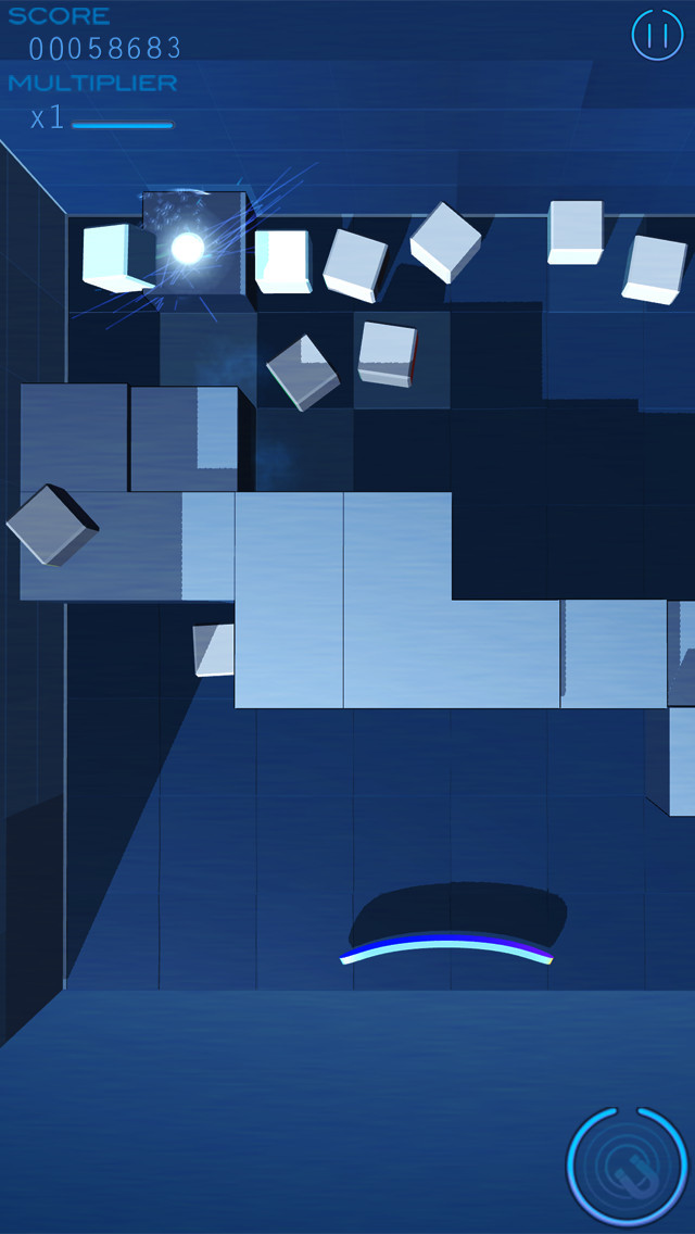 Grey Cubes: Unique 3D Brick Breaker screenshot #3