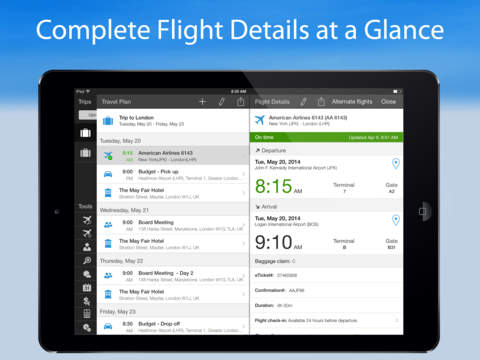 WorldMate Travel Plans & Flight Tracker screenshot 8