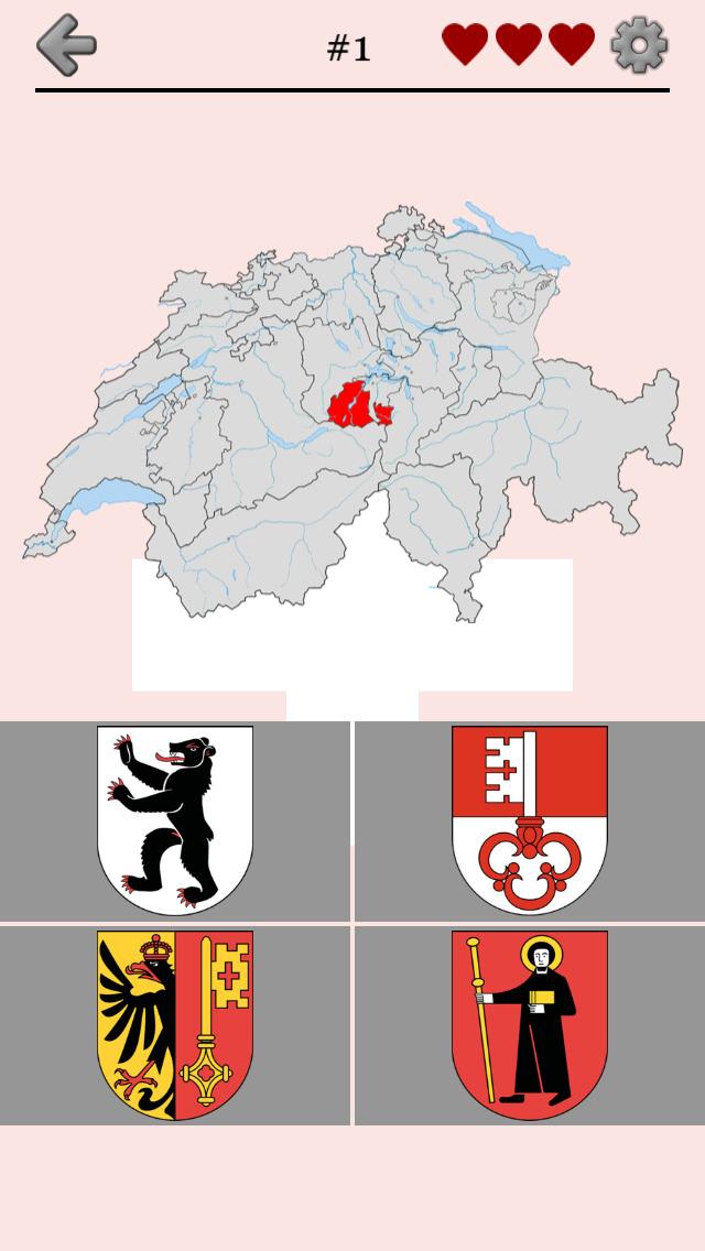 Swiss Cantons - Map & Capitals screenshot 1