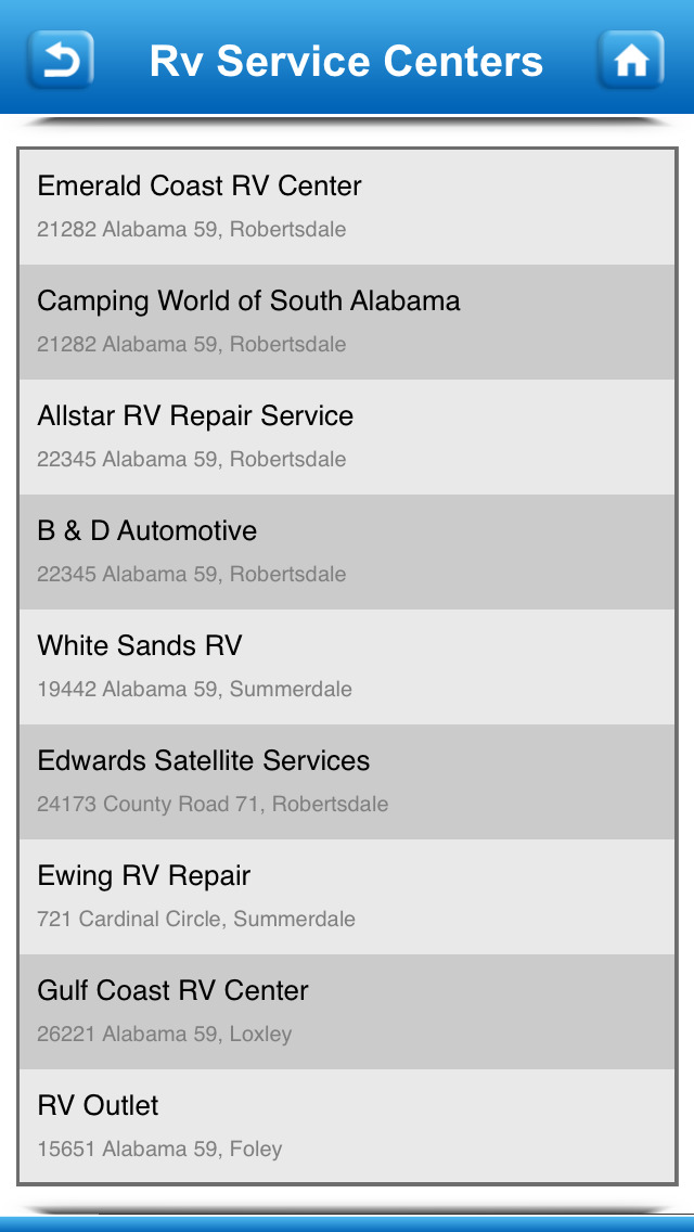 Winnebago Motorhome Service Centers screenshot 5