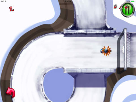 A Ride Sledge : Escape Chase Future Sprint Battle Version HD screenshot 5