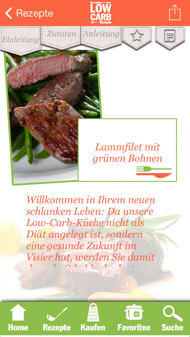 Low Carb Rezepte - Diät screenshot 3