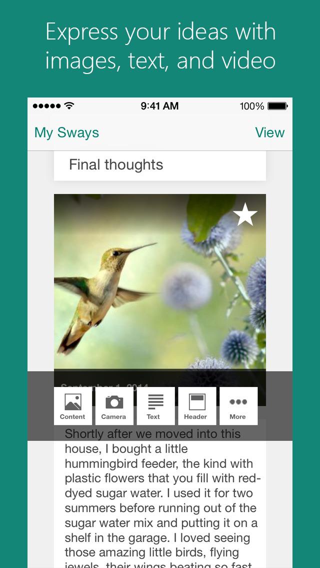 Microsoft Sway screenshot 2