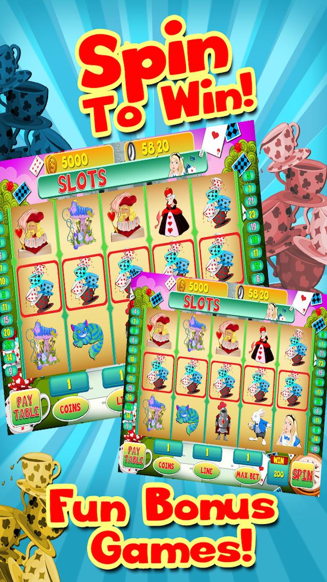 Alice Vegas Slots Casino - Wonderland Jackpot Journey Slot Machine Games Free screenshot 4