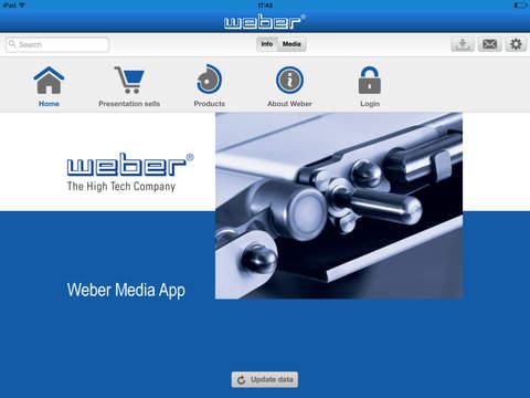 Weber Media App - náhled