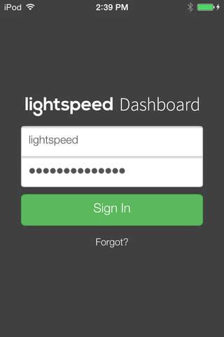 Lightspeed Dashboard - náhled