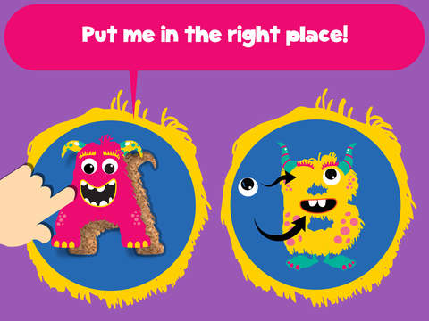My first alphabet and letters monster puzzle Jigsaw Game for toddlers and preschoolers screenshot 7