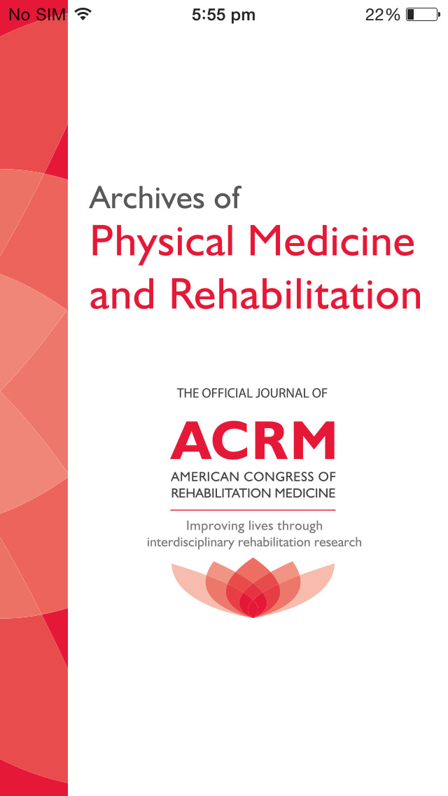 Archives of Physical Medicine and Rehabilitation screenshot 1