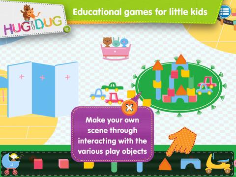 DayCare Explorer - HugDug kindergarten and nursery activity game for little kids. screenshot 3