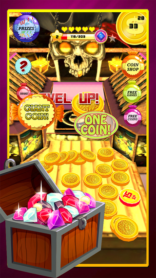 Pirate King Golden Coin Dozer Machine : A real buried treasure in