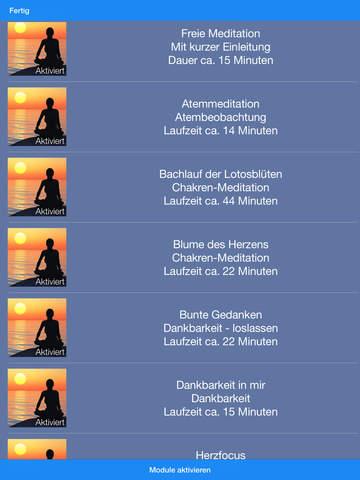 Meditation für innere Ruhe screenshot 6