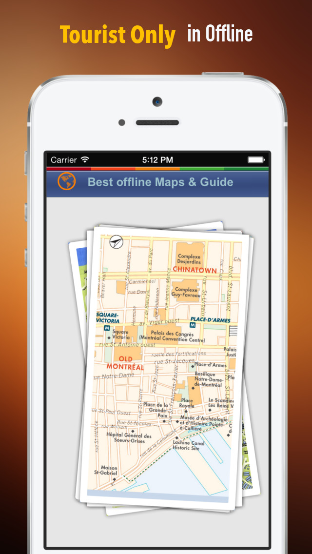 Montreal Tour Guide: Best Offline Maps with Street View and Emergency Help Info screenshot 1