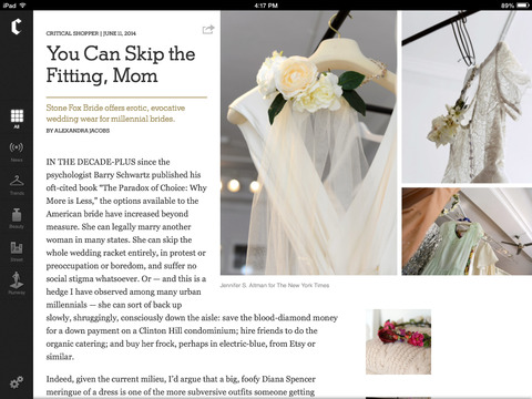NYTimes The Collection screenshot 2